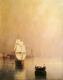 Rhodes, 1874 by Aivazovsky | Painting Reproduction