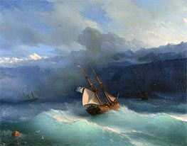 Along the Coast, undated by Aivazovsky | Painting Reproduction