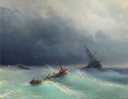 Storm at Sea, 1873 by Aivazovsky | Painting Reproduction