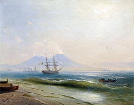 View of Mount Vesuvius, 1878 by Aivazovsky | Painting Reproduction