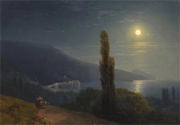 Crimean Coast in Moonlight, 1859 by Aivazovsky | Painting Reproduction