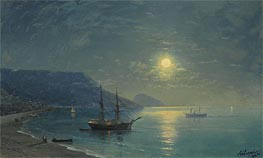 Evening in Crimea, 1895 by Aivazovsky | Painting Reproduction