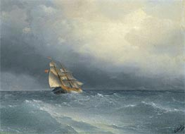 The Lifting Storm | Aivazovsky | Painting Reproduction