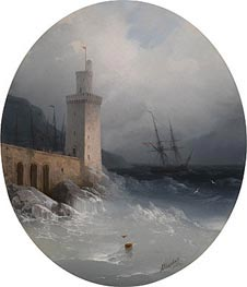 View of the Amalfi Coast | Aivazovsky | Painting Reproduction