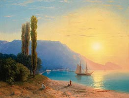 Sunset over Yalta | Aivazovsky | Painting Reproduction