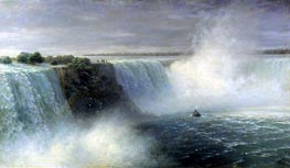 View of Niagara Falls, 1892 by Aivazovsky | Painting Reproduction