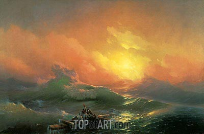 The Ninth Wave, 1850 | Aivazovsky | Gemälde Reproduktion