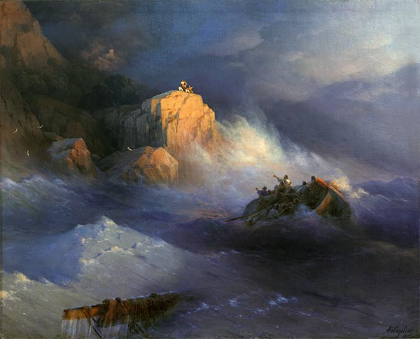 Shipwreck, 1876 | Aivazovsky | Painting Reproduction