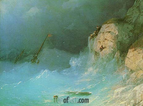 Shipwreck, 1864 | Aivazovsky | Painting Reproduction
