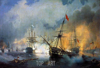 The Battle of Navarino, 20th October 1827, 1846 | Aivazovsky | Painting Reproduction