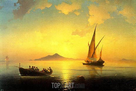 The Bay of Naples, 1841 | Aivazovsky | Painting Reproduction