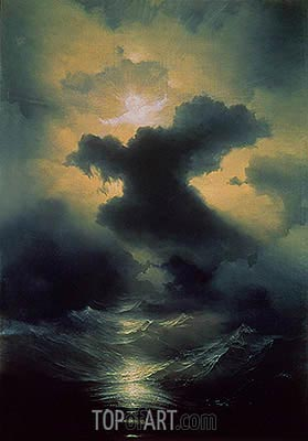 Chaos: Creation of the World, 1841 | Aivazovsky | Painting Reproduction