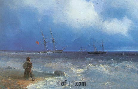 Seashore, 1840 | Aivazovsky | Painting Reproduction