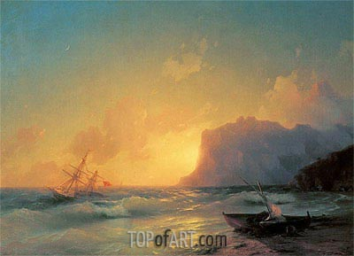 The Sea at Koktebel, 1853 | Aivazovsky | Painting Reproduction