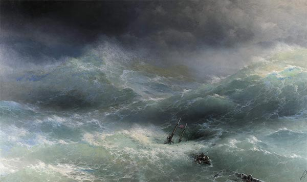 The Wave, the Billow, 1889 | Aivazovsky | Painting Reproduction