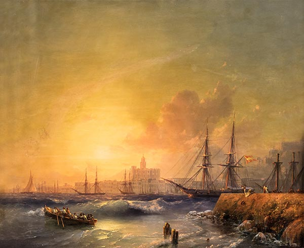 Malaga, Seascape, 1854 | Aivazovsky | Painting Reproduction