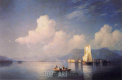 Lake Maggiore in the Evening, 1858 | Aivazovsky | Painting Reproduction