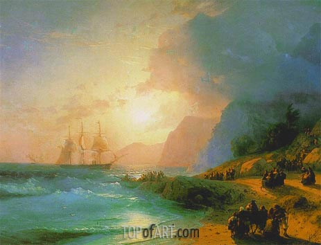 On the Island of Crete, 1867 | Aivazovsky | Painting Reproduction
