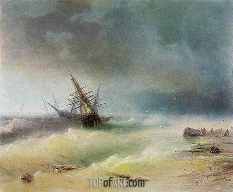 The Storm, 1872 | Aivazovsky | Painting Reproduction