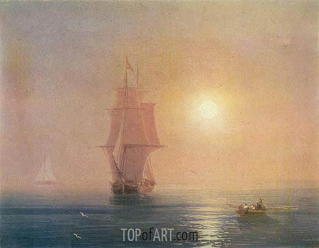 The Sea, 1878 | Aivazovsky | Painting Reproduction