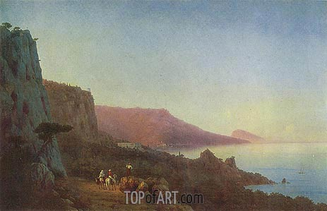 Evening in the Crimea, 1848 | Aivazovsky | Painting Reproduction