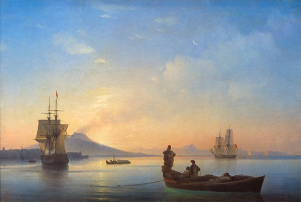 The Bay of Naples in the Morning, 1843 | Aivazovsky | Painting Reproduction