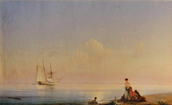 Seashore, Calm, 1843 | Aivazovsky | Painting Reproduction