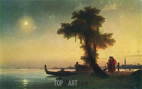 View of a Bay near Venice, c.1842 | Aivazovsky | Painting Reproduction