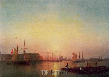 The St. Petersburg Stock Exchange, 1847 | Aivazovsky | Painting Reproduction