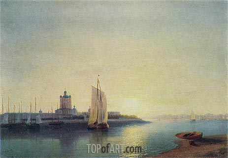 St. Petersburg, the Smolny Convent, 1849 | Aivazovsky | Painting Reproduction