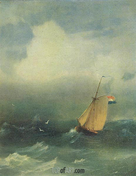 Storm at Sea, 1847 | Aivazovsky | Painting Reproduction