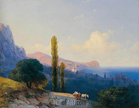 The Coast of the Dardanelles, 1860   Aivazovsky   Painting Reproduction