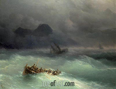 The Shipwreck, 1873 | Aivazovsky | Painting Reproduction