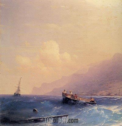 Searching for Survivors, 1870 | Aivazovsky | Painting Reproduction