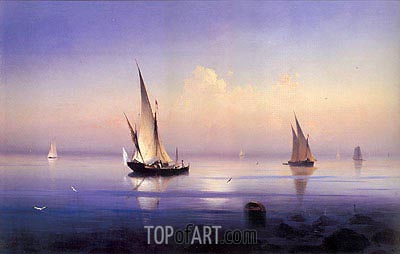 Calm Morning near Vico, 1841 | Aivazovsky | Painting Reproduction