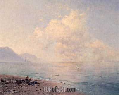 Clouds over a Calm Sea, 1891 | Aivazovsky | Painting Reproduction