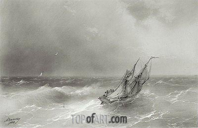 High Seas, 1874 | Aivazovsky | Painting Reproduction