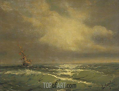 Sunlit Waves, undated | Aivazovsky | Gemälde Reproduktion