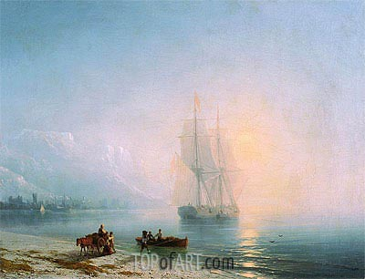 Calm Sea, 1863 | Aivazovsky | Painting Reproduction