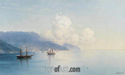 The Bay of Yalta, Undated | Aivazovsky | Gemälde Reproduktion