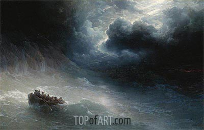 The Wrath of the Seas, 1886 | Aivazovsky | Painting Reproduction