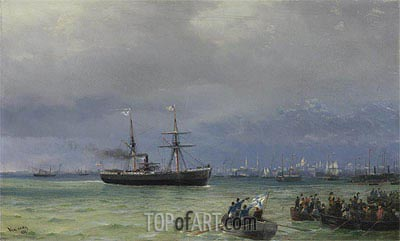 The Relief Ship: A Pair, 1892 | Aivazovsky | Painting Reproduction