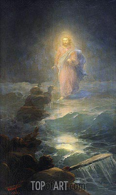 Walking on the Water, 1888 | Aivazovsky | Gemälde Reproduktion