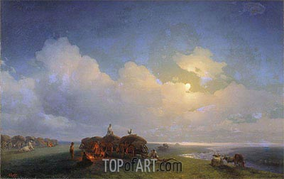 Chumaks on Rest, 1885 | Aivazovsky | Painting Reproduction
