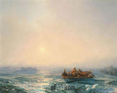 Ice on Dnieper, 1872 | Aivazovsky | Painting Reproduction
