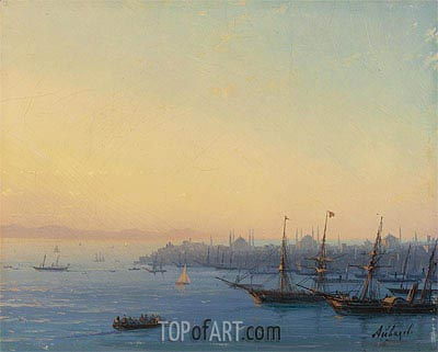 Sunset over Constantinople, Undated | Aivazovsky | Painting Reproduction