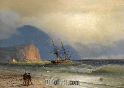 Shipping off the Ayu Dag, 1867 | Aivazovsky | Painting Reproduction
