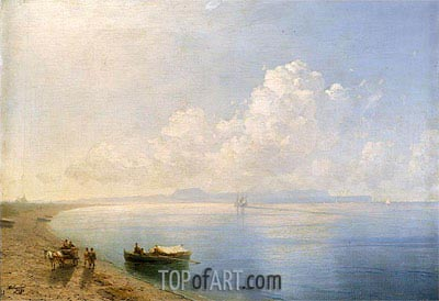 Calm Waters, 1880 | Aivazovsky | Painting Reproduction