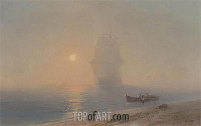 Sailing through the Haze, Undated | Aivazovsky | Painting Reproduction