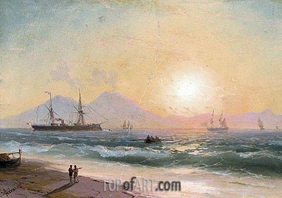 Watching Ships at Sunset, Undated | Aivazovsky | Painting Reproduction